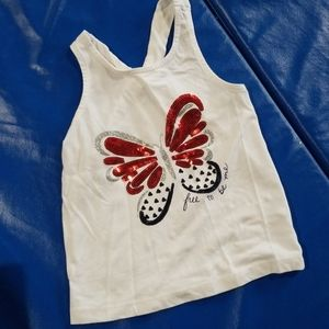 Girls red, white, and blue tank